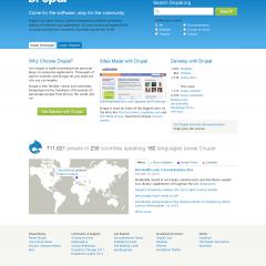 drupal官网新版上线,采用drupal7核心