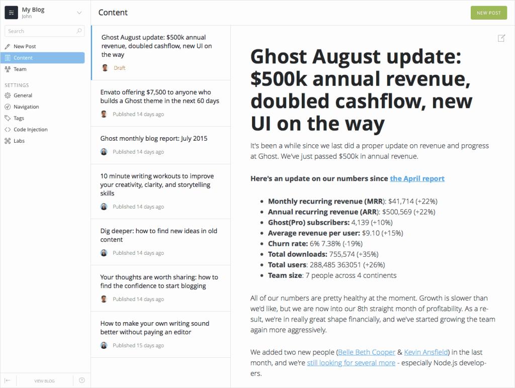 开源noejs博客系统Ghost 0.7.0 正式发布